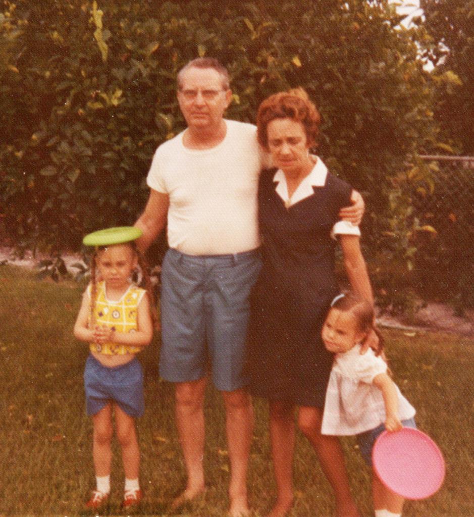 K and M with Grandpa and Grandma
