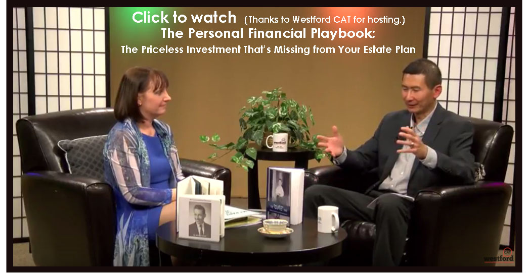 Video of the Personal Financial Playbook TV show when Sunday Dinner Stories discusses the Legacy of Love program
