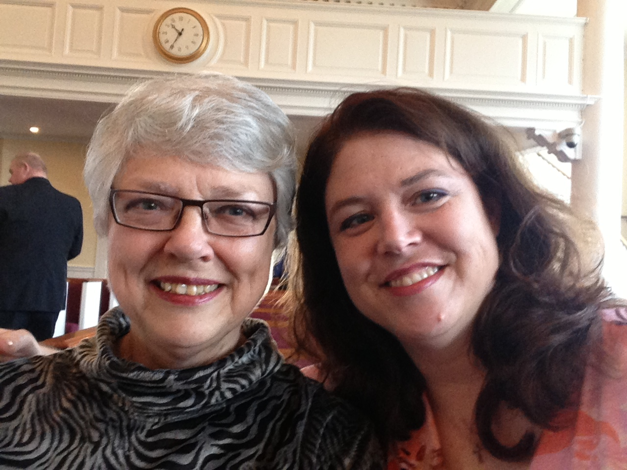 A photo of A Sunday Dinner Stories Client and her mom, the storyteller. They knew they should write a memoir.