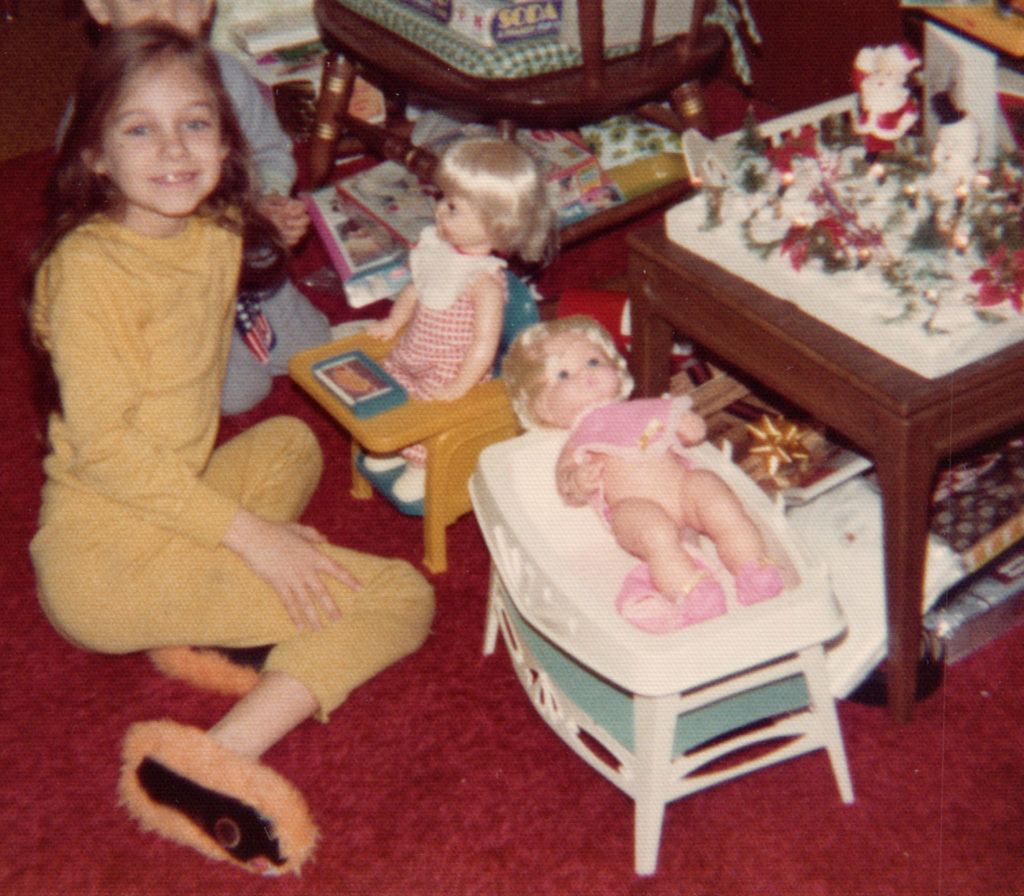 Young Michelle with Dolls