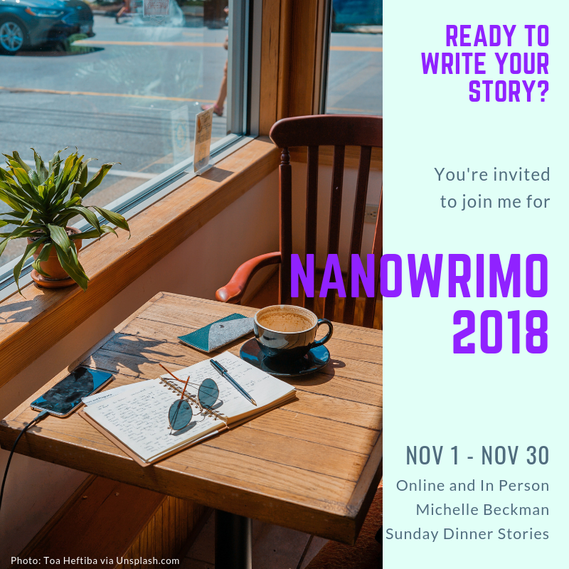 You're invited to NANOWRIMO 2018
