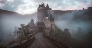 Photo of a castle on a hill.
